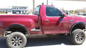 Lifted 97 Ford F150 stepside  for parts