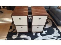 Bedside tables with 2 storage drawers