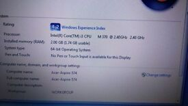 Acer aspire 5742series - 15,6 - Intel core i3