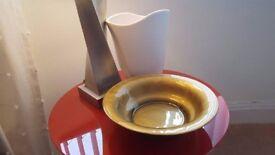 John Lewis Gold Painted Glass Bowl £12