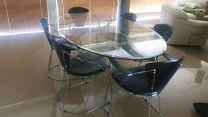 7 piece glass dining table and chairs Catherine Field Camden Area Preview