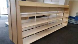 Double Sided shop display units, 410cm x 140cm, 6 available - £200 per section
