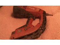 Sealed back Hilti gun comes with nails and gas
