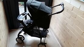 Graco mirage plus stroller/pushchair/buggy with raincover ages 0-36 months