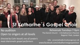Gospel choir looking for new members, all ages, no audition, friendly and fun atmosphere