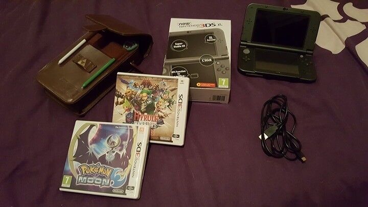 New Nintendo 3ds XL (Great Condition) + Case