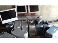 Job Lot of Apple Mac's: 11 Powermac's, 1 Intel iMac and 2 apple studio displays