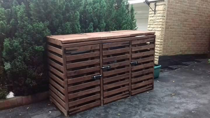Wooden Garden Triple Wheelie Bin Storage Unit & Wooden Garden Triple Wheelie Bin Storage Unit | in Durham County ...