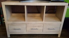 3 Drawer Sideboard - Light Oak Effect