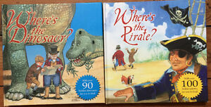 WHERE'S THE DINOSAUR/ PIRATE Books 2 for $10