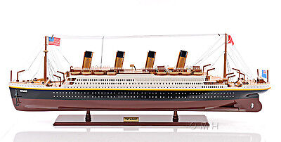 Rms Titanic Cruise Ship Ocean Liner 40  Built Wooden Model Boat Assembled