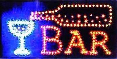 Led Neon Light Animated Motion Wine Beer Bar Sign L02