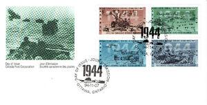"""Pli du 1er jour du Canada """"L'année 1944"""""""