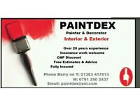 PAINTDEX painter & decorator availible now