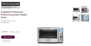 Frigidaire Digital Professional toaster and convection oven
