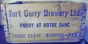 Rare Fort Gary Brewery Ltd Wooden Crate Winnipeg Manitoba Peterborough Peterborough Area image 1