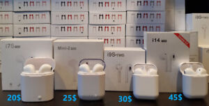 Bluetooth Earpods i7s, Mini2, i9S, i14, * free gift
