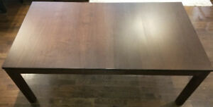 IKEA Bjursta Medium Brown Extendable dining table.