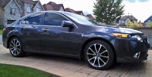 "2012 Acura TSX Tech GPS Graphite Mags 18"" TLX + pneus d'hiver"