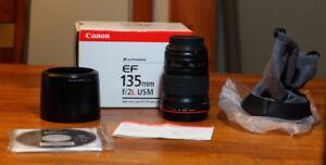 Lentille Canon EF 135mm F2 usm
