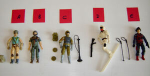 Vintage Hasbro G.I. Joe Action Figures - Excl. Condition - 1980s