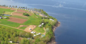 HIGH & DRY RV SITES FOR LEASE ON EAST SIDE OF GRAND LAKE, NB