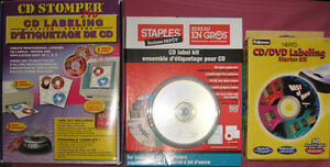 3 CD/DVD Labelling Kits