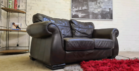 Italian Leather 2 Seater Sofa - Only £99!!