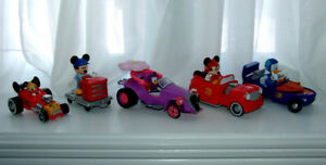 Mickey Mouse Transforming Racers, Figures, etc