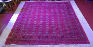 200 cm x 285 cm dark red area rug
