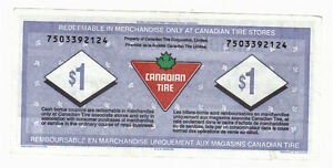 1996 $1.00 CTC CANADIAN TIRE MONEY 75 years of service Kitchener / Waterloo Kitchener Area image 2
