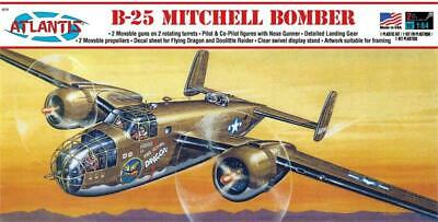 B-25 Mitchell Bomber Flying Dragon 1/64 scale Atlantis Toy and (Toy And Hobby)