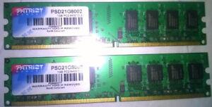 Patriot PSD21G8002 2 GB (2 x 1GB) PC2-6400 CL5 Memory