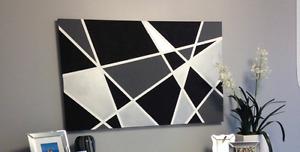 large handpainted wall art