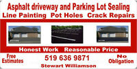 Asphalt Sealing, Maintenance, Line Painting, Pothole repair