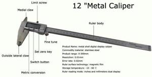 "12 ""Metal Shell DigitalDisplay Caliper #021089"