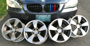 "Set of four original BMW 17"" Rims"