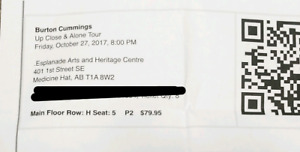 Burton Cummings Ticket - SOLD OUT SHOW