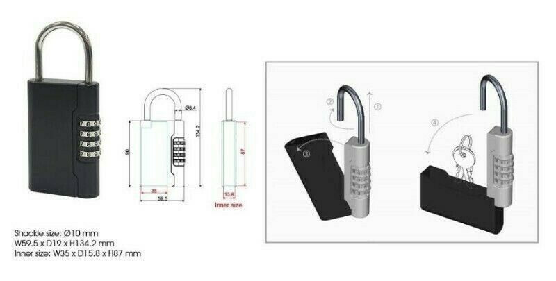 Number Combination Key Lock Box - For sale in Singapore At Avios Solution