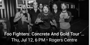 Foo Fighters - Rogers Centre - 2 Tix - 210 Row 7 - Side Stage