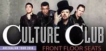 CULTURE CLUB -DIAMOND FLOOR SEATS - RIGHT IN FRONT Melbourne CBD Melbourne City Preview