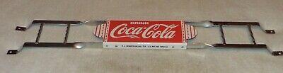 "VINTAGE COCA COLA 31"" PORCELAIN METAL DOOR PUSH PLATE SODA POP GASOLINE OIL SIGN"