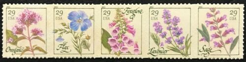 2011 #4505-4509 29¢ - HERBS - Strip of 5 Stamps - Mint NH