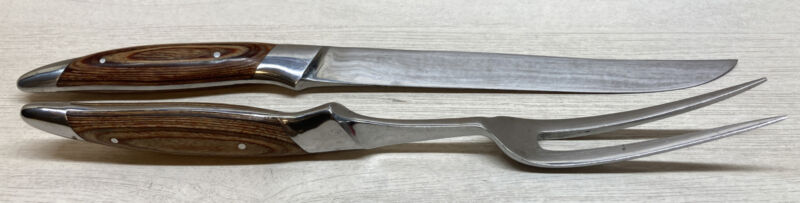 Samurai Japan Stainless Steel Carving Knife Set Vintage Fork & Knife
