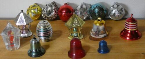 Vintage Christmas Jewelbrite and Bradford Plastic Ornament Lot Filigree