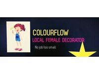 Local female decorator for Plympton and Plymouth. No job too small!