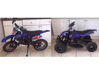 Mini motocross bike and quad