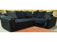Corner Sofa - Black. Can deliver