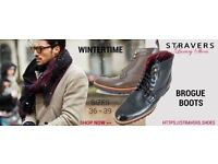 Formal men's shoes small sizes 3, 4, 5, 6 - winter shoes