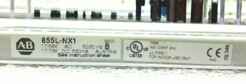 NEW ALLEN BRADLEY 855L-NX1 LED ENCLOSURE BAR LIGHT SER.B 17-54Vac